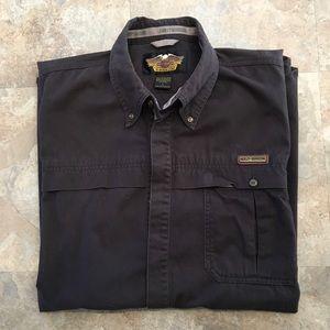 Harley Davidson button down T shirt